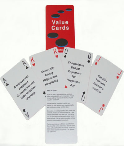 Values coaching cards, coaching products