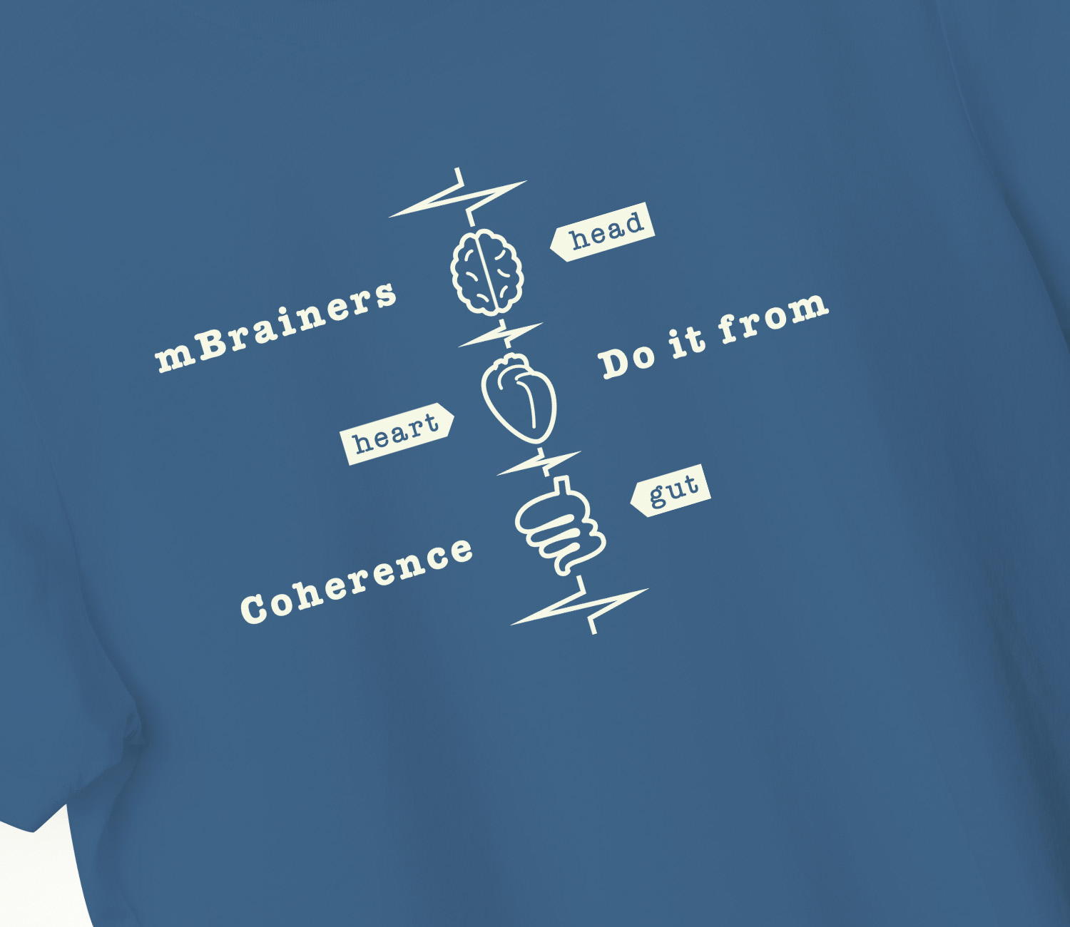 mBrainers do it from coherence T-shirt. Detail