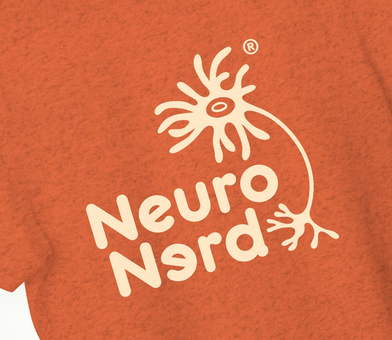 NeuroNerd Logo T-shirt Sunburst Orange.Detail